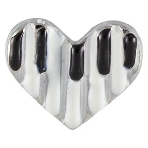 Picture of Piano Heart Charm